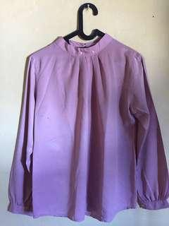 📌SALE blouse purple lebih ke pink peach