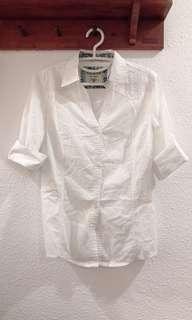 Auth GUESS White Blouse with Embroidery