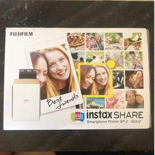 Brand new Fujifilm instax share smartphone printer SP-2 Gold