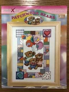 Cross Stitch Design - Patchwork Bear