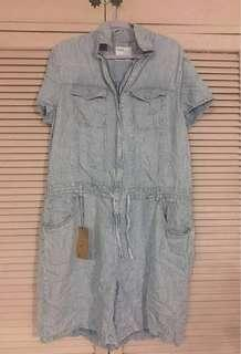 Bershka Brand New Denim Romper (sz44-46) FREE SF