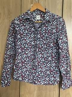 Land's End Floral LS Polo