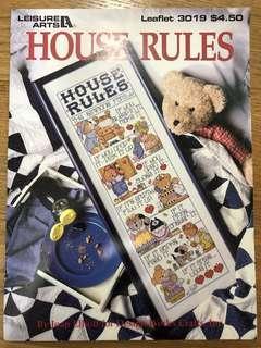 Cross Stitch Design - House Rules