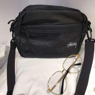 Instock black Stussy sling bag