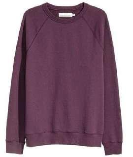 H&M Sweatshirt With Raglan Sleeves Maroon