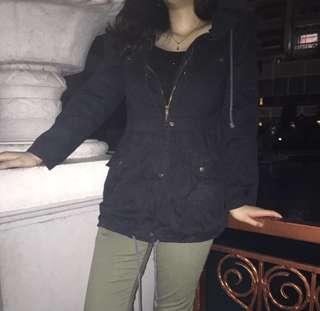 Jaket oversized hitam