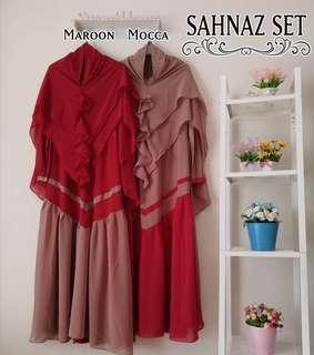2 tones 3 colors jubah and khimar