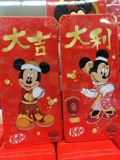 新加坡代購預定kitkat 新年朱古力連鐵盒