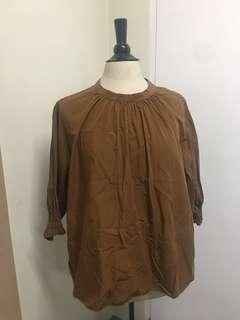 Uniqlo Tunic rust colored top will fit XXL