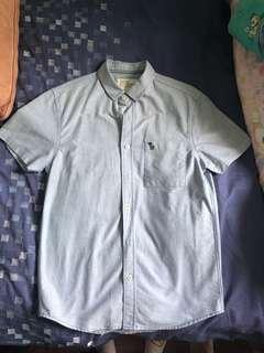 🚚 Denim Blue Button Up Shirt