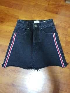 BNWOT cotton on racing stripe mini skirt