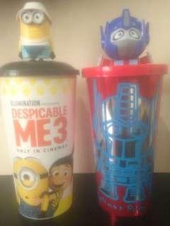 TGV Cinema Despicable Me & Optimus Prime Tumbler