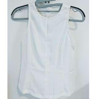 Basic Sleeveless Top in White