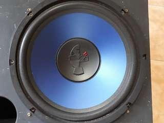 Subwoofer mohawk 12' blue  double speaker with box