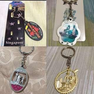 Singapore keychains (Take all for 120)