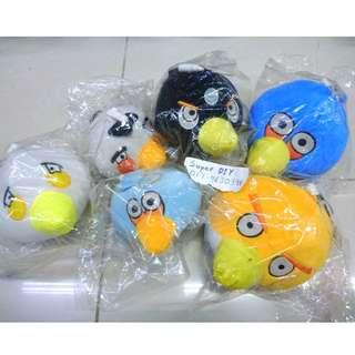 patung anak angry bird soft plush toy doll