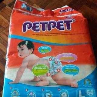 2 pack pet pet L 64 Diapers