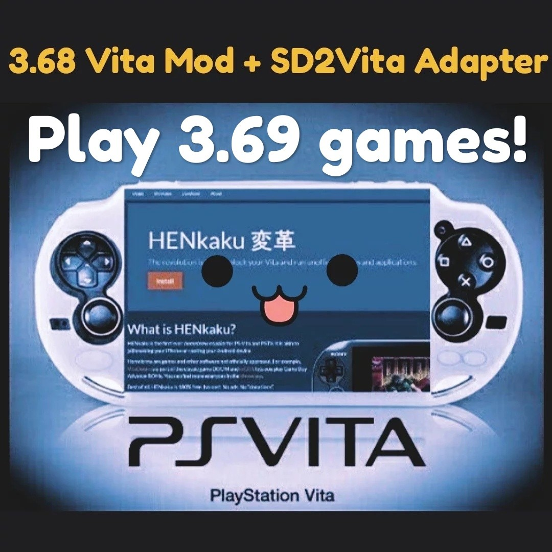 15 min Sony PS Vita 3 70 mod + sd2vita adapter all firmware henkaku hencore