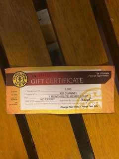 Golds Gym Elite 1 Month Membership