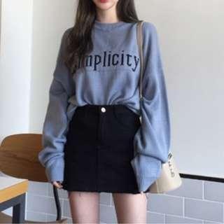復古特別藍色毛衣(不刺)