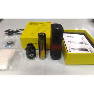Rincoe Manto Mini 90watt AUTHENTIC Vapor Paket Ngebul Fullset BoxMod