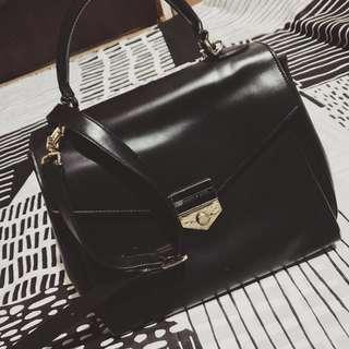 Charles & Keith/Black/Faux leather/Bag