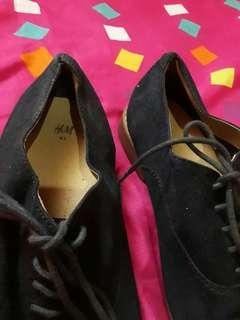 H&M Black Suede Shoes