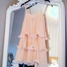 H&M Cream Ruffle Dress