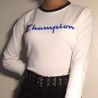 champion long sleeve crop top