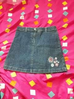 For kids Maong Skirt