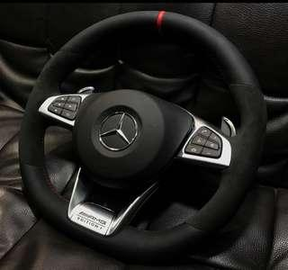 Mercedes AMG CLA GLA45 alcantara steering CNY promo!!!