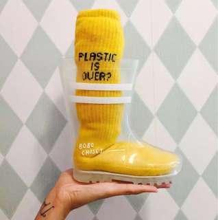Transparent Children Rain Boots (Cute, Bobo Disney, Princess, Shoes, Sandles)