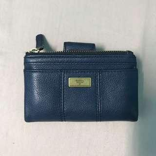Fossil Wallet Dark Blue