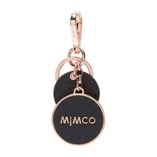 Mimco Sublime Keyring Black and Rose Gold