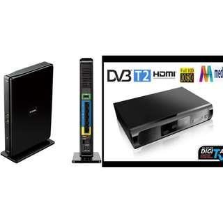 CHEAP! D-Link Wireless AC1750 Gigabit Router & NEW M2 DVB-T2 Digital HD TV Set Top Box $35 ONLY! PLUS FREE NEW Items!!