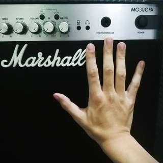 Marshall amp MG30Cfx guitar amplifier