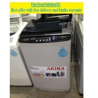Akira 10.0kg, washer /washing machine ($320 + free delivery & 6mths warranty)