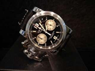 Graham Chronofighter stainless steel black dial