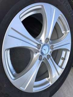 """18"""" Mercedes GLC OEM rims and tyres"""