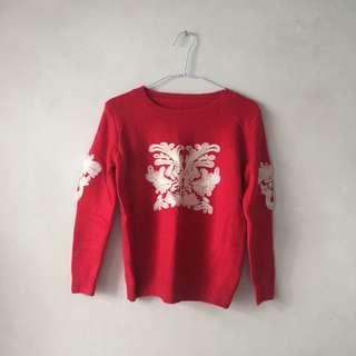 🚚 梅紅針織毛衣