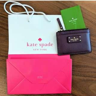 Authentic Kate Spade Credit Card Case in Berry Purple