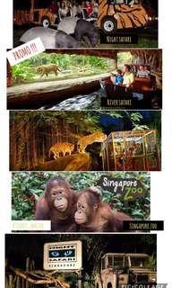 PROMO ! Singapore Zoo, River Safari, Night Safari