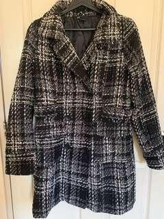 Thick Plaid Coat
