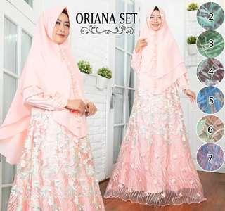 7 colors jubah and khimar set