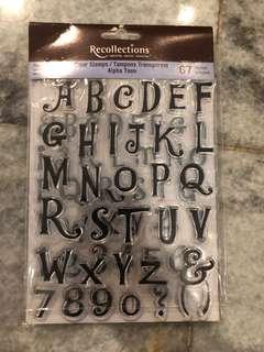 alphabeth stamp