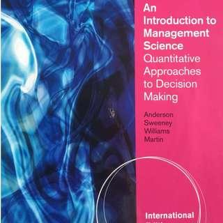 BU8401 An Introduction to Management Science