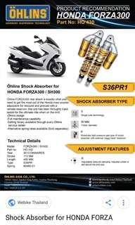 Honda Forza 300 ohlins suspension