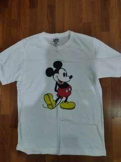 Uniqlo Mickey Mouse white tee
