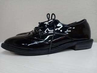 Oxford shoes black glossy #bersihbersih