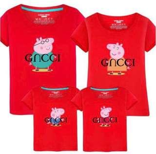 BN Family Red Shirts Peppa Pig